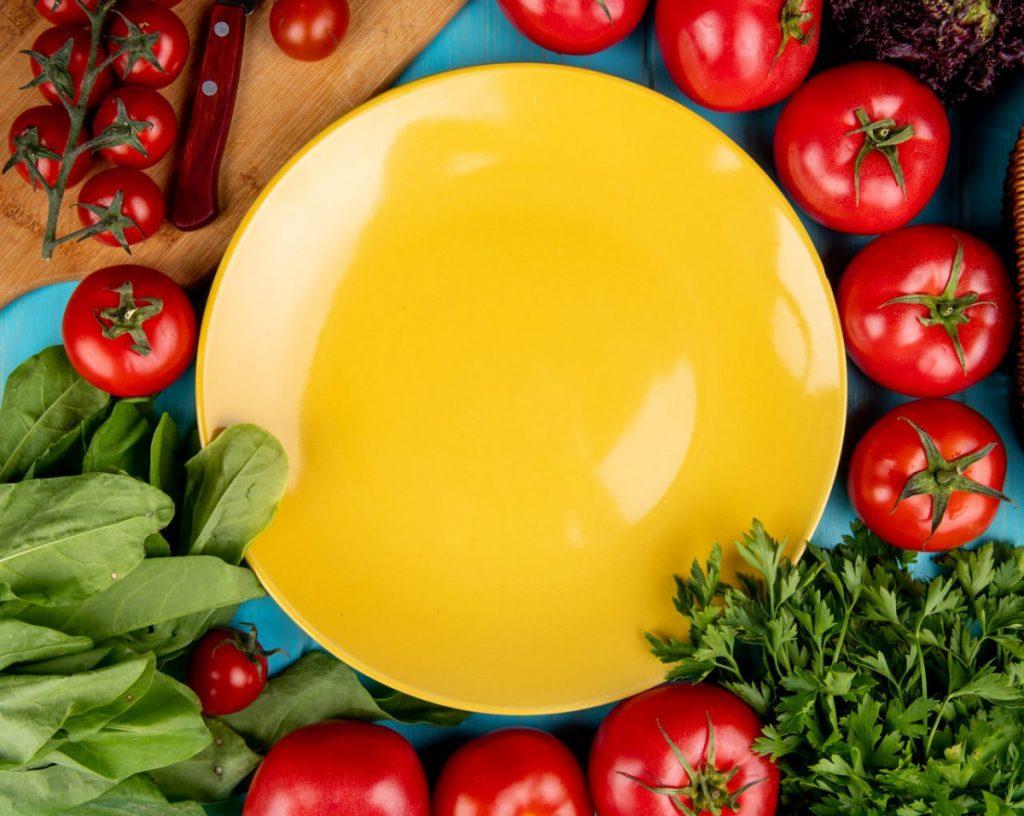 post warzywno-owocowy talerz