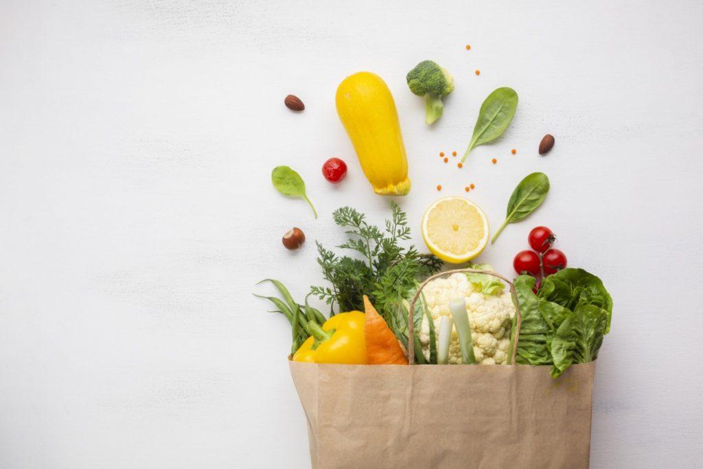 post warzywno-owocowy torba z warzywami