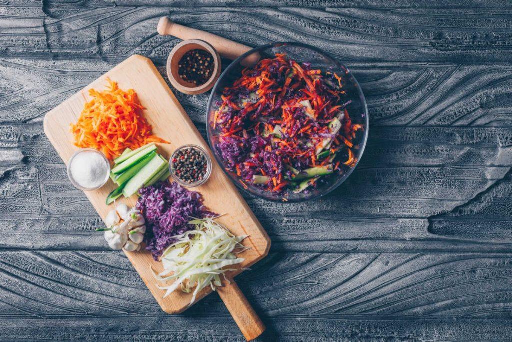 post warzywno-owocowy sałatka warzywna